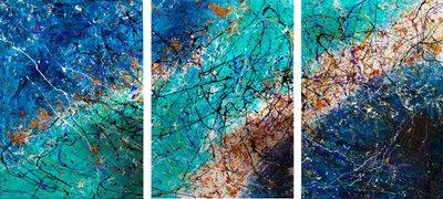 """Triptique """"I"""" 100 cm x 210 cm"""