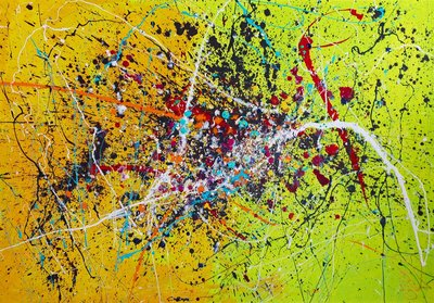 yellow by caroline vis art