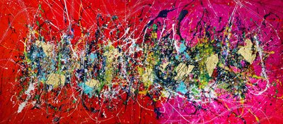 Pollock`s Dream by Caroline Vis Art Paintings
