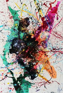 Caroline vis Art moderne  de Caroline Vis du style de Jackson Pollock