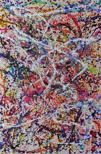 abstract pollock art painting by caroline Vis