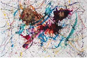 Kolibri de l' artiste peintre abstrait Caroline kl kl