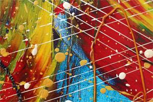 collection colorfull abstrait húille peintre kl kl