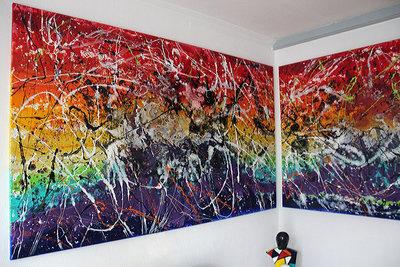 Caroline Vis modern abstract industrial expressionisme large Art