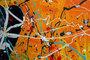 pollocks dripping style art painting