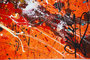 Original abstract expressionism art on canvas signed by Caroline Vis