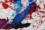 blue art painting ink abstract pollock
