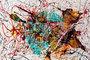 blue moon abstract art painting caroline vis II kl kl