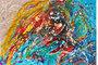Parallel universe peinture contemporaine de l'artiste Caroline Vis kl kl